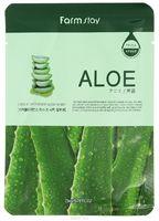 Тканевая маска для лица с экстрактом алоэ FarmStay Aloe