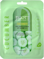 JIGOTT Cucumber real ampoule mask - Маска ампульная с экстрактом огурца 27мл