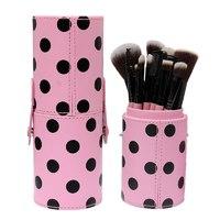 Косметические кисти для макияжа в удобном тубусе 10 шт