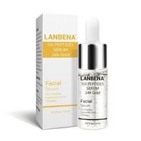 Сыворотка для лица с пептидами и нанозолотом LANBENA Six Peptides Serum 24K Gold ,15ml