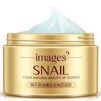 Скраб омолаживающий для лица с муцином улитки Images snail from natural beauty of women,140 мл