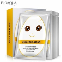Тканевая Маска Bioaqua Egg Face Mask Small Eggs Tender And Smooth Water Facial Mask,30g