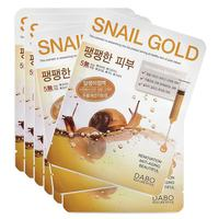 Тканевая маска с муцином улитки Dabo Snail Gold