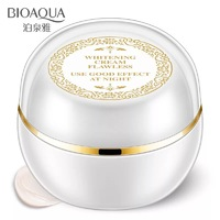 Отбеливающий, выравнивающий тон кожи крем для лица ночной Bioaqua Beauty Muscle Run Lady Cream,30ml .