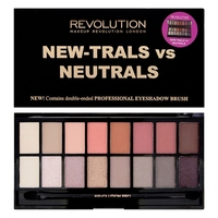 Палетка теней Makeup Revolution New-Travls vs Neutrals,(16цв).