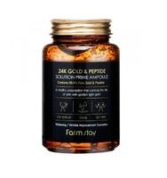 Омолаживающая сыворотка с пептидами и золотом FarmStay 24K Gold & Peptide Solution Prime Ampoule,250ml