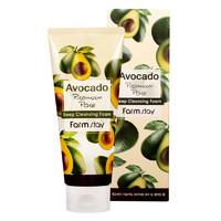 Очищающая пенка для лица с маслом авокадо FarmStay Avocado Premium Pore Deep Cleansing Foam, 180ml