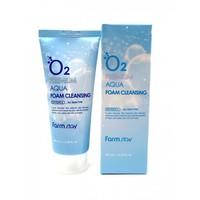 Увлажняющая пенка для умывания FarmStay O2 Premium Aqua Foam Cleansing ,100ml.