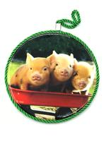 Подставка под горячее (3 свинки)