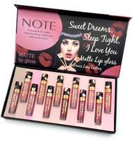 Набор матовых блесков Note Matte Lip Gloss 12цв