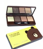 Палетка теней Missha Eye Color Studio Mini -Brown ,4цв