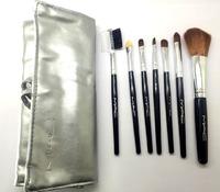 Набор кисточек для макияжа M.А.С серебрянный чехол 7шт