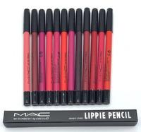 Цветные карандаши для губ MAC Lippie Pencil в коробочке (12 шт)