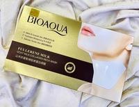 Патч для шеи с коллагеном и козьим молоком BioAqua Fullerene Milk Collagen Neck Mask, 30 гр