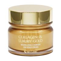 Антивозрастной крем с коллагеном и золотом 3W Clinic Collagen & Luxury Gold Cream,100ml