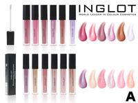 Блески для губ Inglot Lip Tint Matte/ Rouge a Levres Liquide Matte Тон А (12 шт)