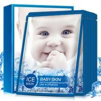 Тканевая Охлаждающая маска для лица  Bioaqua Baby Skin Net Trough Blasting Ice Film