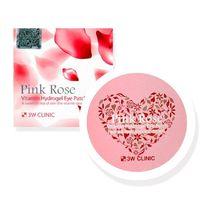 Гидрогелевые патчи Pink Rose Vitamin Hydrogel Eye Patch 3W Clinic