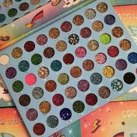 Палетка глиттерных теней для век Coco Urban Unicorn (54 цвета)