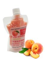 EXGYAN Скраб очищающий увлажняющий для тела с экстрактом персика Body scrub skin peach Slippery 300г