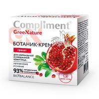 Compliment GreeNature Ботаник-крем Гранат для нормальной и смешанной кожи лица, 50 мл