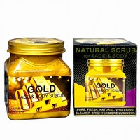 Скраб для лица и тела Wokali Natural Scrub For Face & Body Gold 500 ml