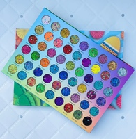 Палетка Happy Juju Lucky из глиттеров 54 colors eyeshadow.