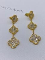 Серьги гвоздики коллекция Alhambra