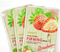 Увлажняющая тканевая маска Wokali Fruits Gelato Firming Mask с экстрактом клубники