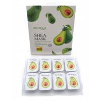 Набор ночных несмываемых масок с экстрактом авокадо BIOAQUA Shea Mask 8х5g